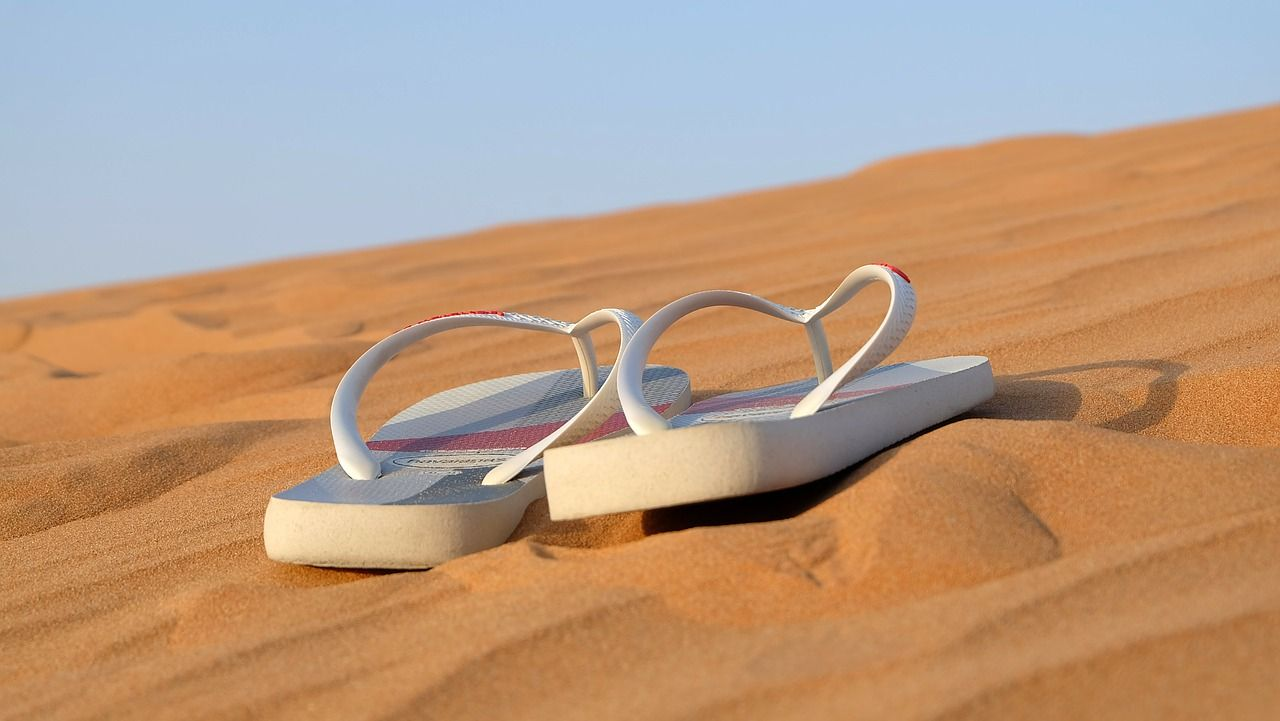 sandals in sand